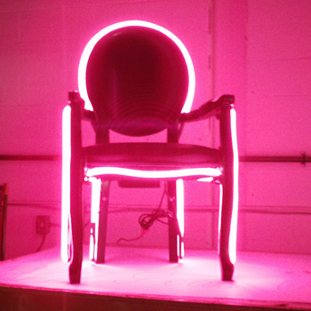 neon chair for  special promotion