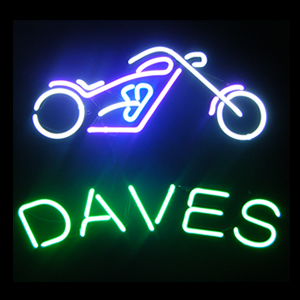 Finished 2'x2'custom neon sign for Dave
