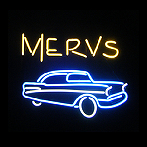 This is the final 2'x2' neon sign we created for Merv