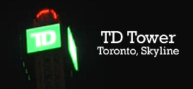 TD Tower neon sign, Toronto, Ontario